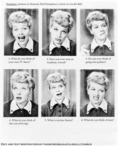 Lucille's Facial Expressions  (Read the captions)