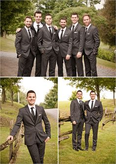 gray groom suits