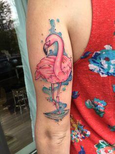 Pink Flamingo #flamingo #tattoo