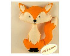 Easy to sew felt PDF pattern. DIY Harold the Pug by Phoraminiphera