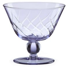 Etched Footed Purple Bowl | Lenox