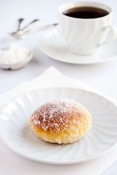 Lime ricotta baked doughnuts: Recipe adapted from Gourmet Traveller via Kitsch in the kitchen Just Desserts, Delicious Desserts, Dessert Recipes, Yummy Food, Baked Doughnuts, Eat Dessert First, Churros, Food Styling, Ricotta