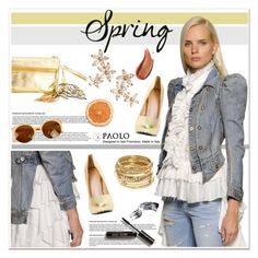 """""""Spring Day to Night with PaoloShoes"""" by spenderellastyle ❤ liked on Polyvore featuring Faith Connexion, ABS by Allen Schwartz, Bonheur and Bobbi Brown Cosmetics"""