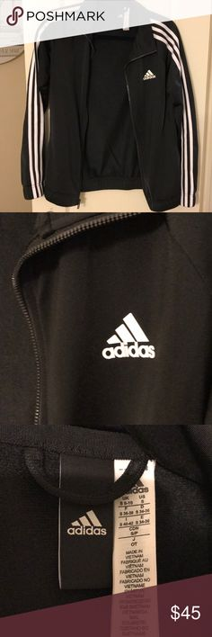 Adidas track jacket Never worn Adidas women's track jacket. Great fit, goes well with everything, basically new!! adidas Jackets & Coats