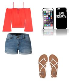 """Cute summer outfit"" by fungiral on Polyvore featuring LE3NO, Bebe and Billabong"