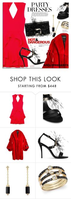 """""""#PolyPresents: Party Dresses"""" by margaretferreira ❤ liked on Polyvore featuring Rebecca Vallance, Roger Vivier, Dolce&Gabbana, David Yurman, Bloomingdale's, Victoria Beckham, Anja, contestentry and polyPresents"""