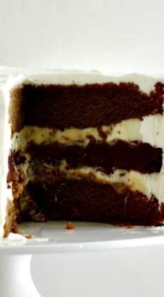 Vanilla Mocha Latte Layer Cake Recipe. With buttercream as the frosting, one of the better desserts.