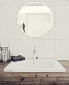 Bathroom ♡ White ♡ Wood ♡