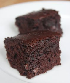 Just made these, they are SO good!! Greek Yogurt Brownies: This 125-calorie slimmed-down brownie sheds over 150 calories from traditional recipes. These fluffy squares taste just as sinful — without any guilt.