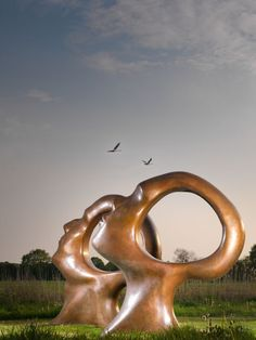Bronze Abstract Garden sculpture by artist Simon Gudgeon titled: 'Search for Enlightenment' £295,000