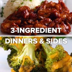 3-Ingredient Dinners & Sides // #recipes #dinner #sides #food