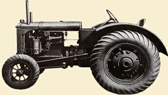 The Allis Chalmers Model U  The Allis-Chalmers Model U became famous as the first production farm tractor offered with low pressure rubber tires. This popular AC tractor was built from 1929 to 1952, with well over 20,000 copies produced...