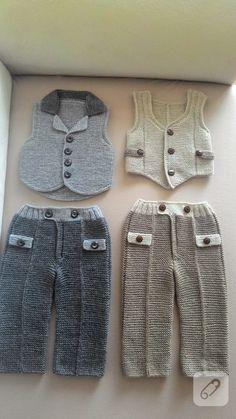 equipes meninos tricô bebê