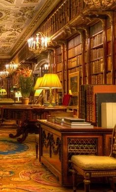 """theladyintweed:Beautiful Libraries:Chatsworth House, England."" https://sumally.com/p/1533433?object_id=ref%3AkwHOAAN32oGhcM4AF2X5%3Ad8k3"