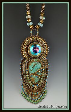 Turquiose Goddess 1 by Beaded Art Jewelry, via Flickr