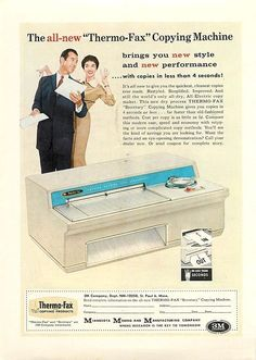 1958 Thermo- Fax Copying Machine - Old Print Ad