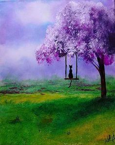 Time to Swing original painting on canvas by KristaMayOriginals