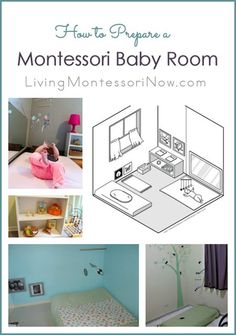 Common attributes of a Montessori baby room plus roundup of baby rooms and resource posts; includes lots of information about floor beds for babies.