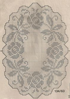 Филейная столовая салфетка крючком схема