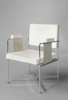 Jacques Dumond; Chromed Metal and Aluminum Armchair for dennery, 1961.