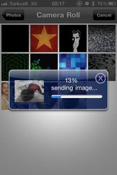 Sending Photo Mobile Screenshot, Camera Roll, Image