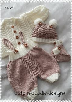 Diy Crafts - Reborn and Baby Knitwear for sale, also knitting patterns for babies and dolls clothing Knit Baby Pants, Knit Baby Sweaters, Baby Cardigan, Baby Knitting Patterns, Free Knitting, Baby Overalls, Crochet Baby Sandals, Sweater Set, Free Baby Stuff