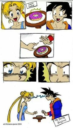 Goku, of course, would win, but he might give it to her because she likes to whine a lot.
