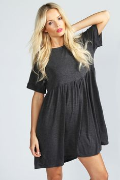 Ruby Oversized Smock Dress from Boohoo