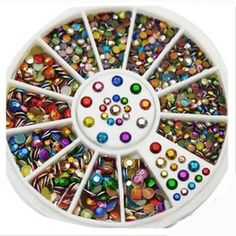 1 Wheel 3D New Hot Nail Art Rhinestones Glitters Acrylic Tips Decoration Manicure Wheel