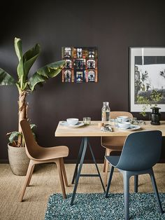 36db2dfc9d6 Create a cosy dining spot in your living room with modern furniture from  IKEA! Try this lightweight worktop in birch (KARLBY) paired with trestles  in grey ...