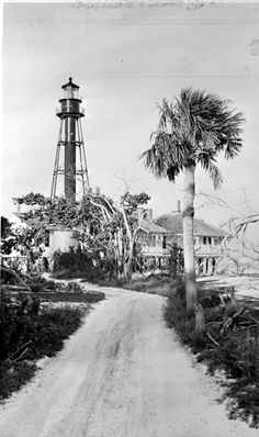 Sanibel Island Lighthouse Station after the 1947 hurricane Date 1947 Collection Florida Photographic Collection Image Number Clearwater Florida, Sarasota Florida, Old Florida, Vintage Florida, Florida Travel, Florida Beaches, South Florida, Kissimmee Florida, Pine Island