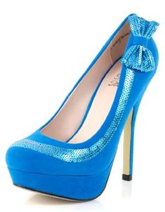 Shop ModDeals.com for discounted Sequined Bow Platform Pumps in Turquoise. Find cheap women's Heels and Pumps in our online fashion clothes & accessories store.