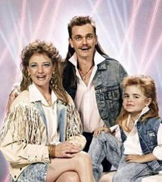Good God! Where do I start? Mullets, tassels, acid wash, laser light show, father/son matching necklaces. This family embraced the 1980s like no other.