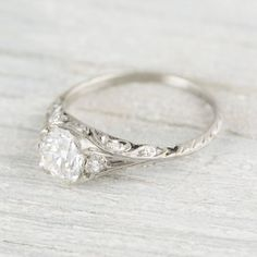 This Moissanite engagement ring vintage Rose Gold Sapphire ring is just one of the custom, handmade pieces you'll find in our engagement rings shops. Morganite Engagement, Rose Gold Engagement Ring, Engagement Ring Settings, Vintage Engagement Rings, Gold Sapphire Ring, Gold Diamond Wedding Band, Vintage Diamond Rings, Antique Rings, Diamond Jewelry