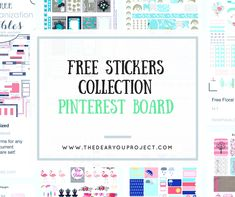 FREE STICKERS COLLECTION | The dear you project