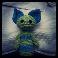 This is Mømbl. Free handed crocheted amigurumi monster - by me :)