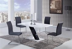Shop Global Furniture USA Casual Dining Set at Homelement for the best selection and price online. Shop Casual Dining Set and more. Furniture Dining Table, Dining Table In Kitchen, Cool Furniture, Modern Furniture, Furniture Usa, Dining Tables, Dining Sets, Dining Rooms, White Dining Set