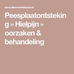 Peesplaatontsteking » Hielpijn » oorzaken & behandeling