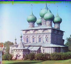 Iglesia de la resurrección en la arboleda (Kostroma). / 1910 / © LOC, LC-DIG-prokc-21251