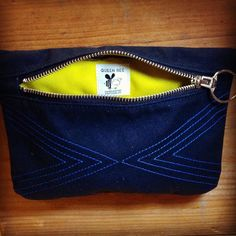 This one of a kind #waxedCanvas Hip Holster has a BRIGHT yellow nylon liner!  $52 #intheshop