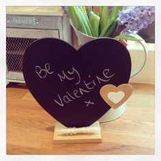 Beautiful black board heart on wooden stand with a piece of chalk Double wooden heart decoration Approx Perfect for valentines day kitchen Heart Decorations, Table Decorations, Table Number Stands, Wooden Hearts, Wedding Table, Place Card Holders, Valentines, Board, Gifts