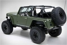 Based on the AMC Jeepster Commando, the Jeep Terra Crawler is fitted with all the gear needed to tackle the toughest environments. Built by RCH Designs, Huntington Beach CA