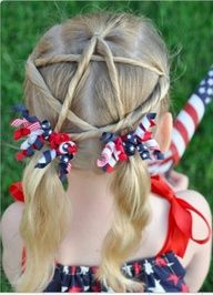 4th of July hair! Maybe for the kids one day