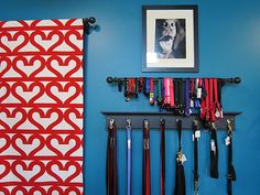 Good idea for storing collars and leads.  (Immortal Dog store in Seattle)