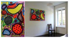 Abstract painting. Interior Design Art by Yuliya Vladkovska. www.facebook.com/nevaoff