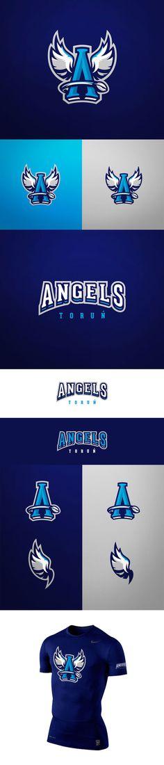 Angels Torun Identity: Awesome Sports Logo Designs by Kamil Doliwa