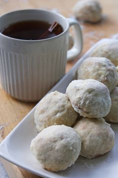 Who knew great, great grannies recipe was Betty Crocker. Turned out well but I feel I over baked them a tad. Russian Tea Cakes my mother makes the BEST Speiser Speiser Wolfe My Recipes, Holiday Recipes, Cookie Recipes, Dessert Recipes, Favorite Recipes, Russian Tea Cookies, Russian Tea Cake, Russian Recipes, Russian Desserts