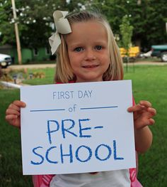 Pre-School is the perfect time to start some first day of school traditions like simply taking your child's photo and seeing the changes over the years!