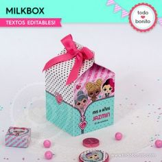 LOL: milkbox Doll Party, Lalaloopsy, Lol Dolls, Holidays And Events, Decorative Boxes, Birthday, Surprise Ideas, Bb, Pastel