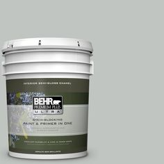 BEHR Premium Plus Ultra 5 gal. #PPU25-14 Engagement Silver Semi-Gloss Enamel Interior Paint